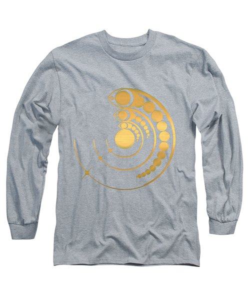 Crop Circle Formation Near Avebury Stone Circle In Wiltshire England In Gold Long Sleeve T-Shirt