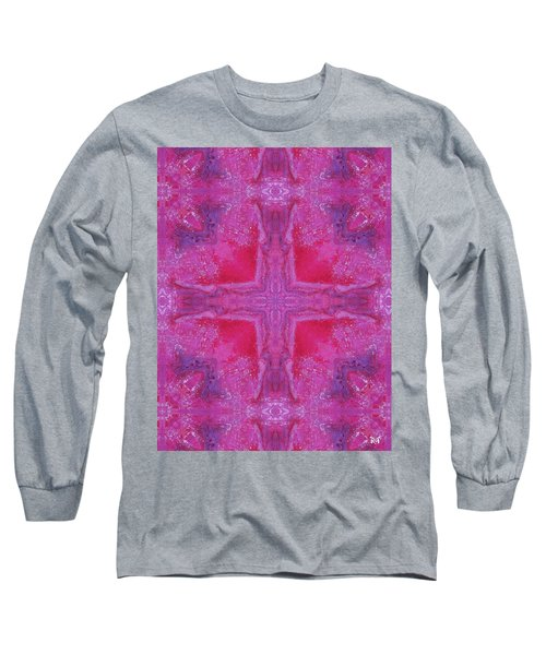 Cross Of Love Long Sleeve T-Shirt by Maria Watt