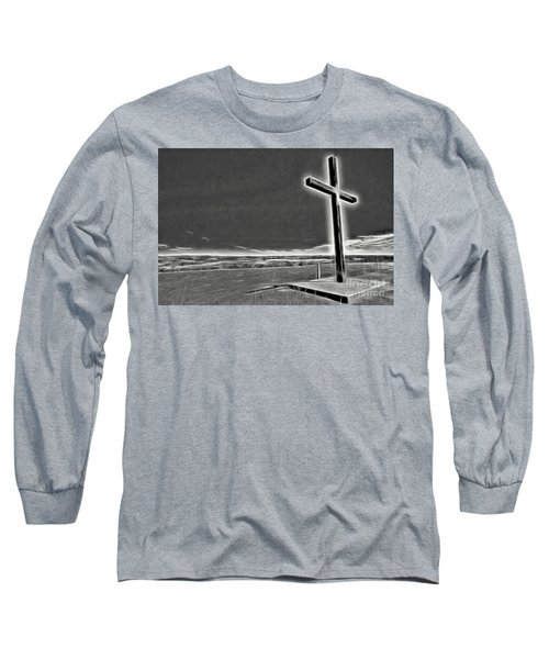 Cross On The Hill V2 Long Sleeve T-Shirt by Douglas Barnard