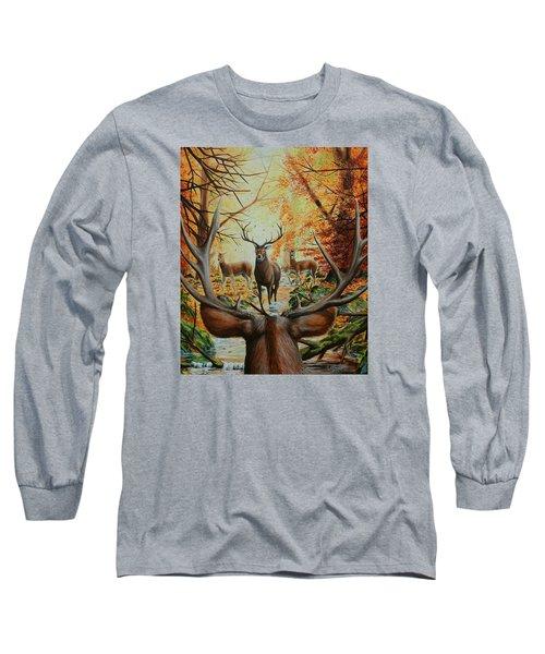 Crossing Paths Long Sleeve T-Shirt by Ruanna Sion Shadd a'Dann'l Yoder