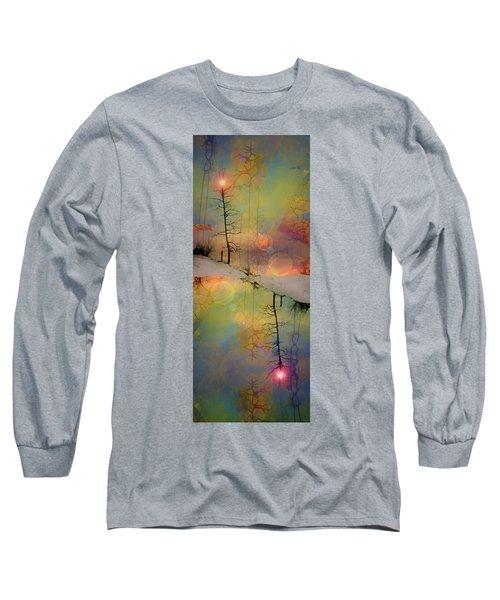 Long Sleeve T-Shirt featuring the digital art Crossroads by Tara Turner