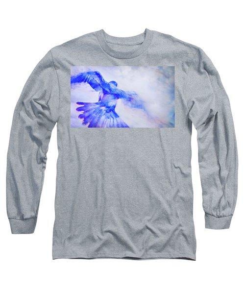 Crow In Flight Long Sleeve T-Shirt