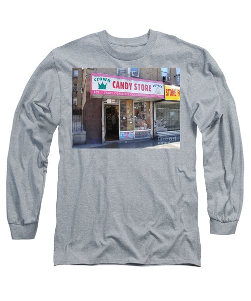 Long Sleeve T-Shirt featuring the photograph Crown Candy Store  by Cole Thompson