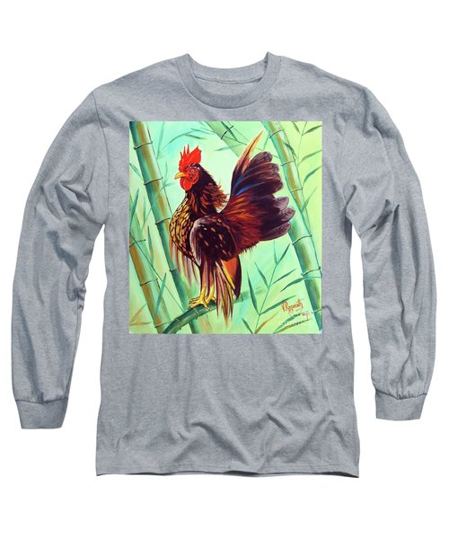 Crown Of The Serama Chicken Long Sleeve T-Shirt