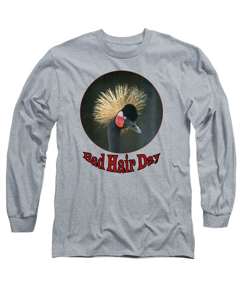 Crowned Crane - Bad Hair Day - Transparent Long Sleeve T-Shirt by Nikolyn McDonald