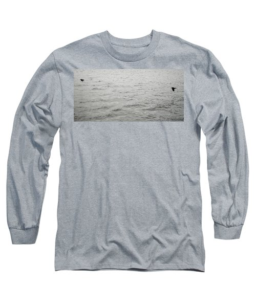 Crows In Flight Long Sleeve T-Shirt