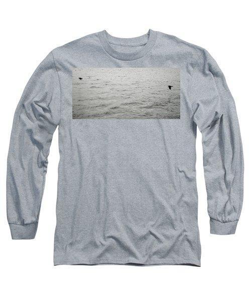 Crows In Flight Long Sleeve T-Shirt