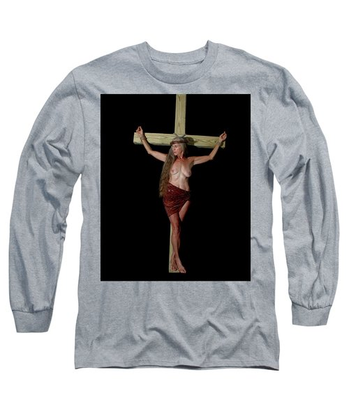 Crucifixion Of A Woman Long Sleeve T-Shirt