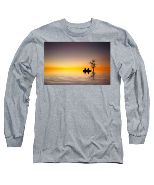 Long Sleeve T-Shirt featuring the pyrography Cruise by Bess Hamiti