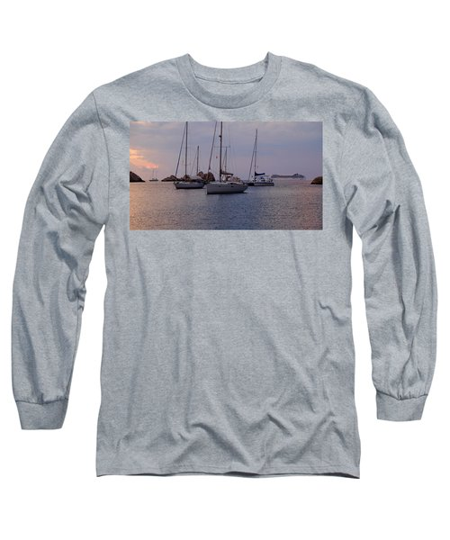 Cruise Liner Passing Long Sleeve T-Shirt