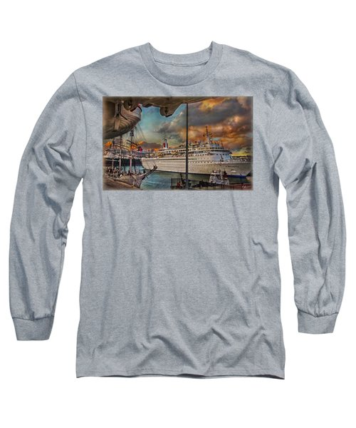 Cruise Port Long Sleeve T-Shirt by Hanny Heim
