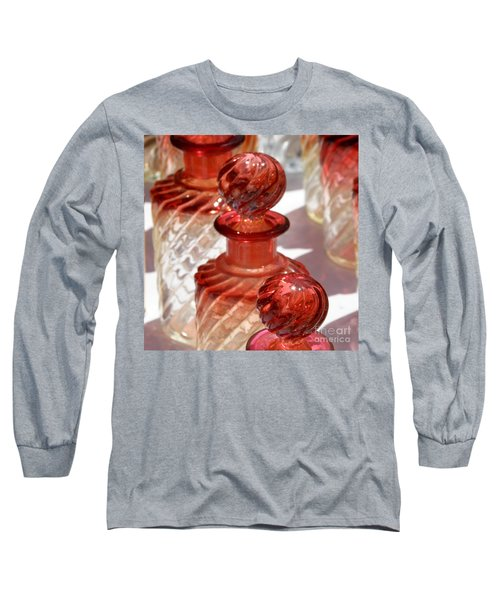 Long Sleeve T-Shirt featuring the photograph Crystal Bottles by Lainie Wrightson