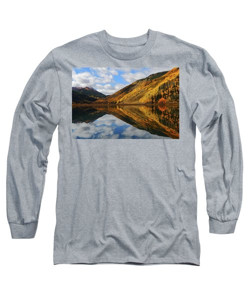 Crystal Lake Autumn Reflection Long Sleeve T-Shirt by Jetson Nguyen