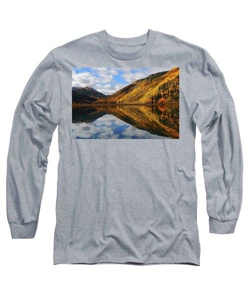 Crystal Lake Autumn Reflection Long Sleeve T-Shirt