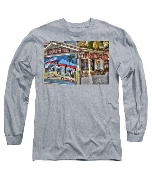 Cuban Coffee Queen Long Sleeve T-Shirt
