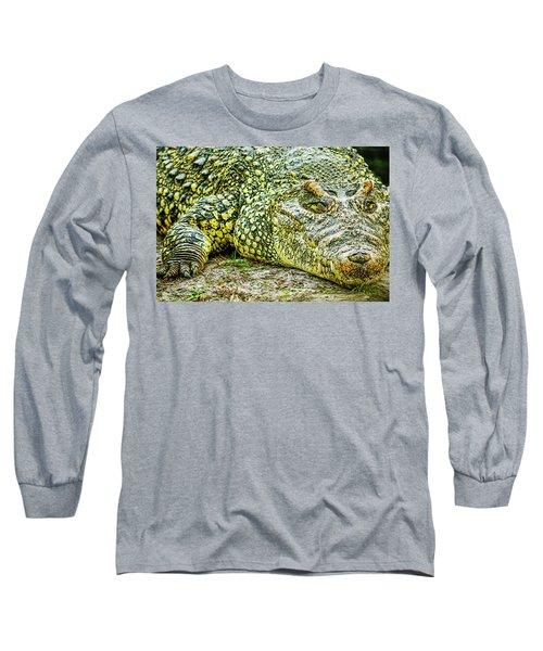 Cuban Croc Long Sleeve T-Shirt by Josy Cue