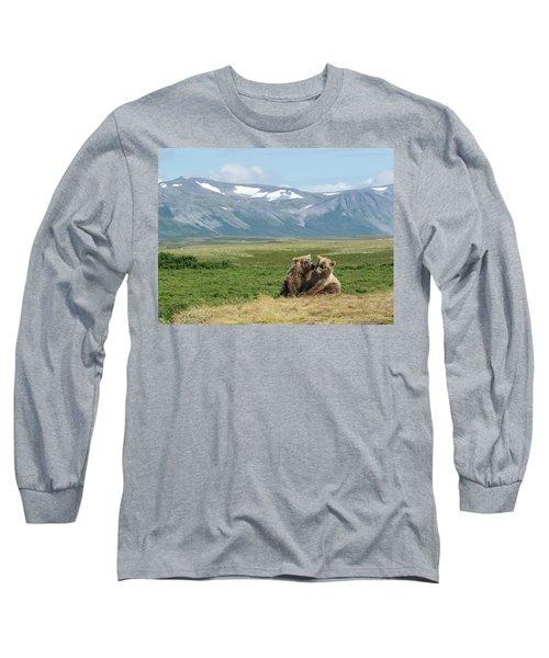 Cubs Playing On The Bluff Long Sleeve T-Shirt
