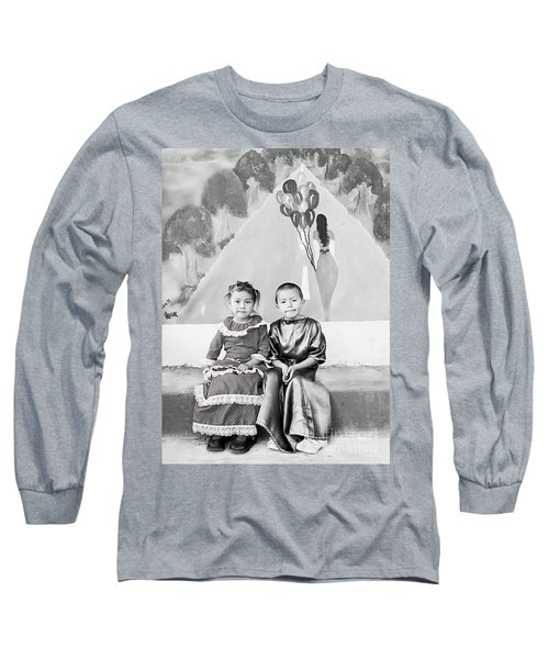 Long Sleeve T-Shirt featuring the photograph Cuenca Kids 896 by Al Bourassa