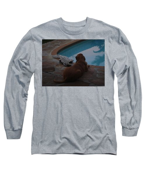 Cujo And The Alligator Long Sleeve T-Shirt by Val Oconnor