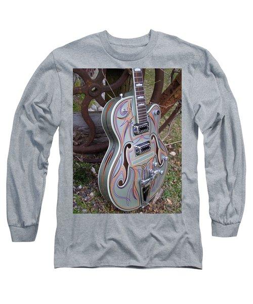 Custom Painted Giutar Long Sleeve T-Shirt