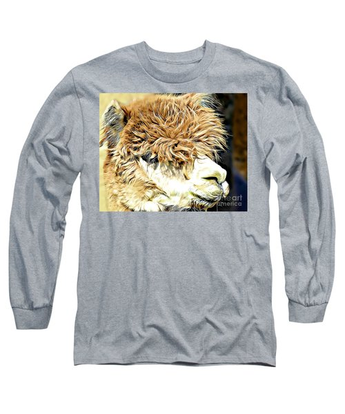 Soft And Shaggy Long Sleeve T-Shirt by Kathy M Krause
