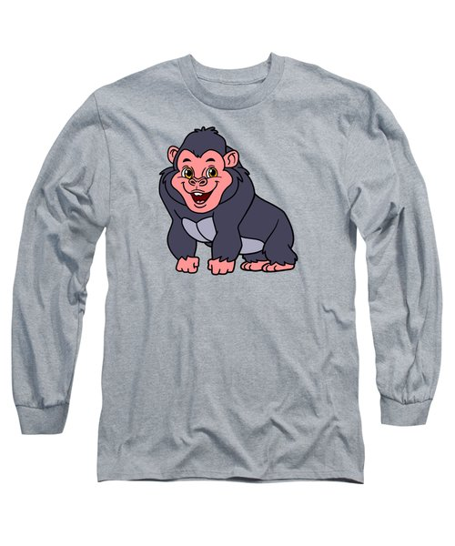 Cute Ape Long Sleeve T-Shirt