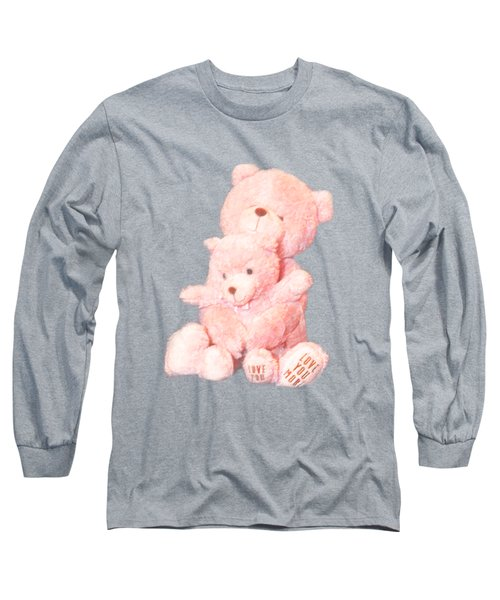 Cutout Hugging Bears Long Sleeve T-Shirt by Linda Phelps