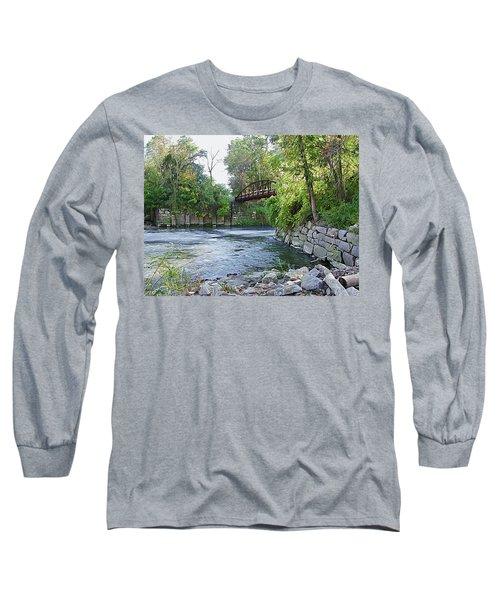 Cuyahoga River At Peninsula Long Sleeve T-Shirt