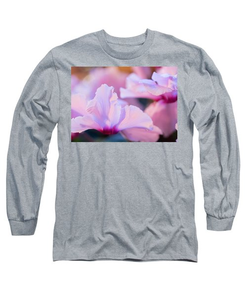 Long Sleeve T-Shirt featuring the photograph Cyclamen by Cathy Donohoue