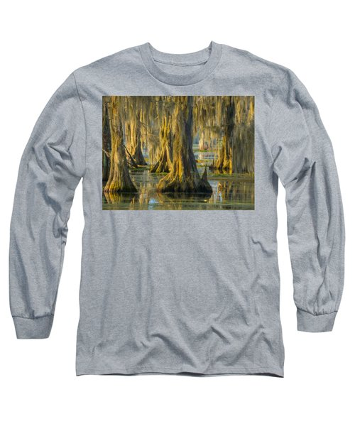 Cypress Canopy Uncovered Long Sleeve T-Shirt by Kimo Fernandez