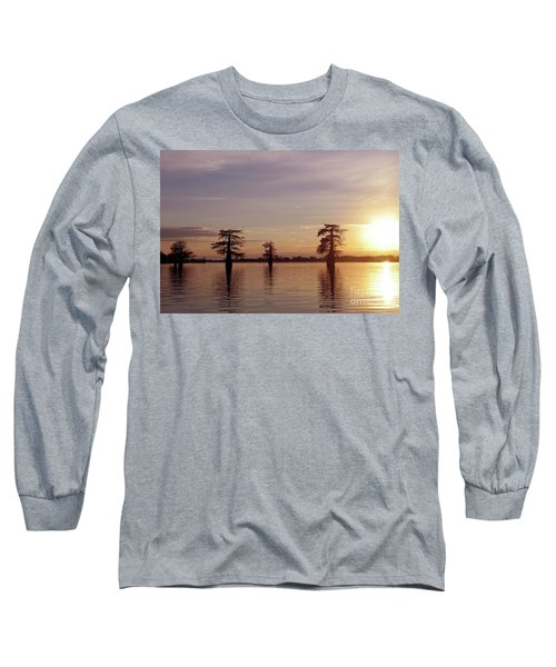 Cypress Sunset Long Sleeve T-Shirt by Sheila Ping