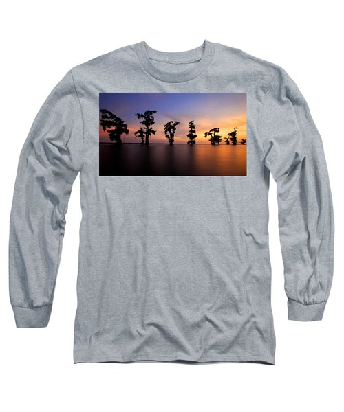 Long Sleeve T-Shirt featuring the photograph Cypress Trees by Evgeny Vasenev