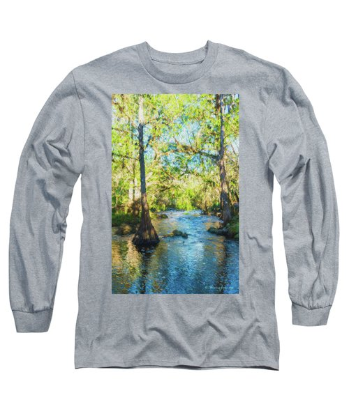Cypress Trees On The River Long Sleeve T-Shirt