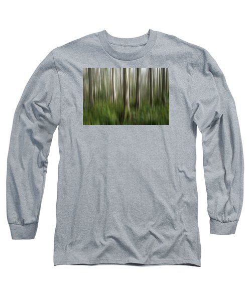 Cypress Tress Digital Abstracts Motion Blur Long Sleeve T-Shirt by Rich Franco