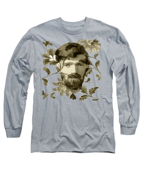 D H Lawrence Long Sleeve T-Shirt by Asok Mukhopadhyay