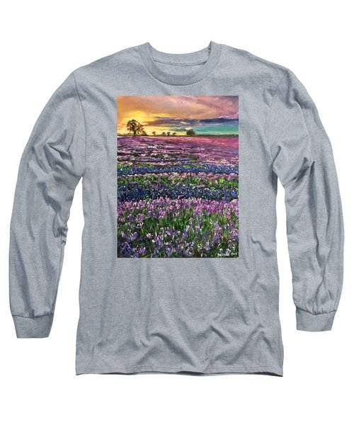 Long Sleeve T-Shirt featuring the painting D R E A M S by Belinda Low