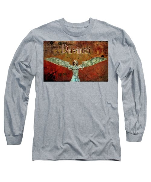 Long Sleeve T-Shirt featuring the digital art da Vinci 2023 by Greg Sharpe