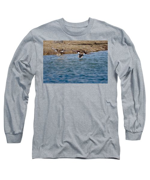 Gadwall Ducks - In Flight Side By Side Long Sleeve T-Shirt