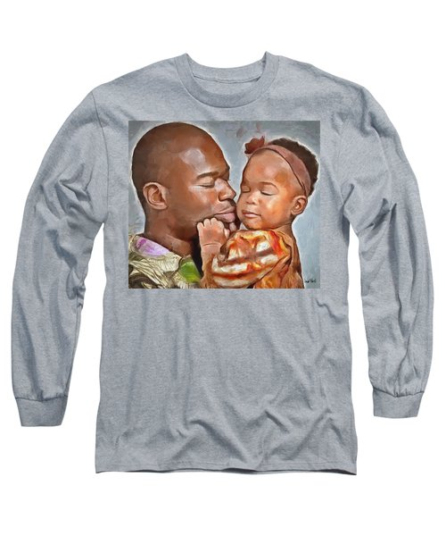 Daddy's Girl Long Sleeve T-Shirt by Wayne Pascall