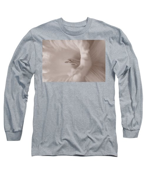 Daffodil In White Long Sleeve T-Shirt