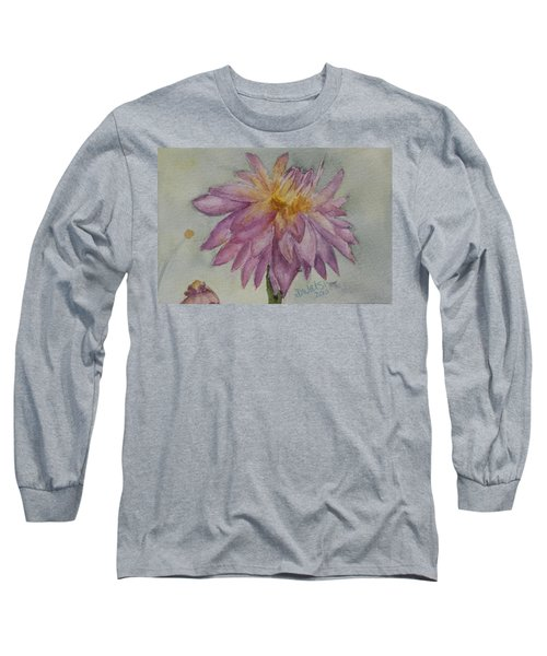 Long Sleeve T-Shirt featuring the painting Dahlia At Eastport Me by Donna Walsh