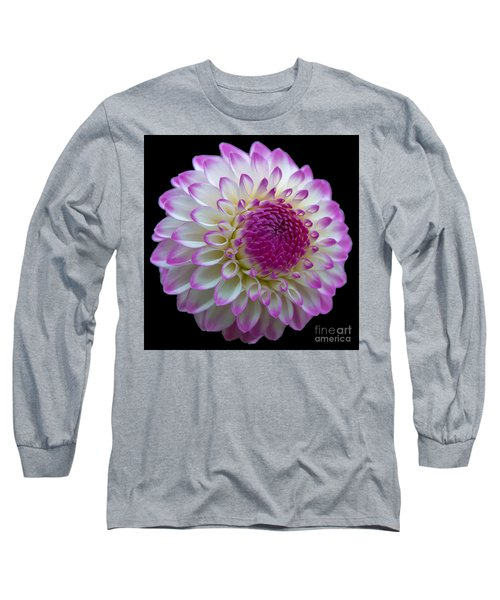 Dahlia Fine Art On Black Long Sleeve T-Shirt