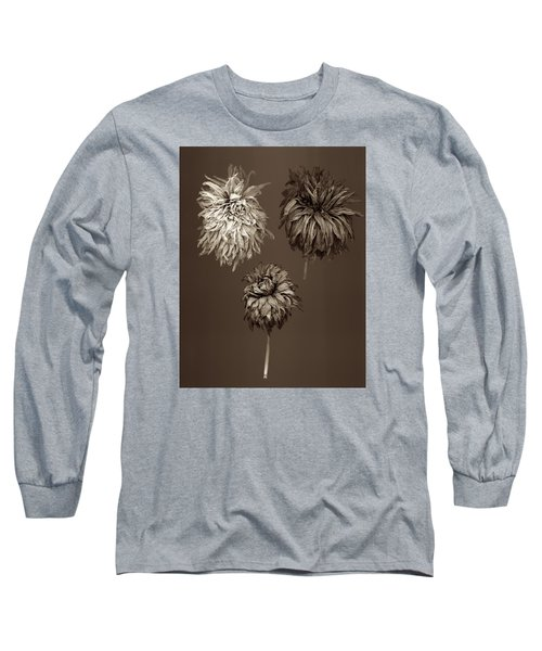 Dahlia  Grouping Long Sleeve T-Shirt by Simone Ochrym