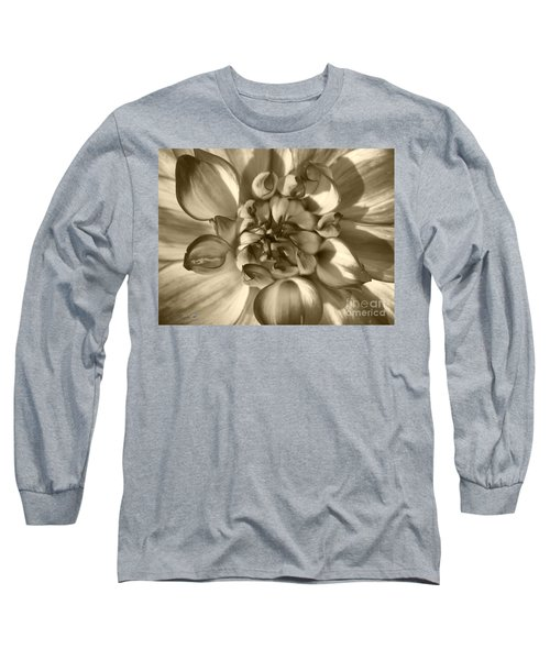Dahlia Named Who Dun It Long Sleeve T-Shirt by J McCombie