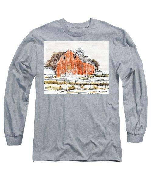 Dairy Barn Long Sleeve T-Shirt by R Kyllo