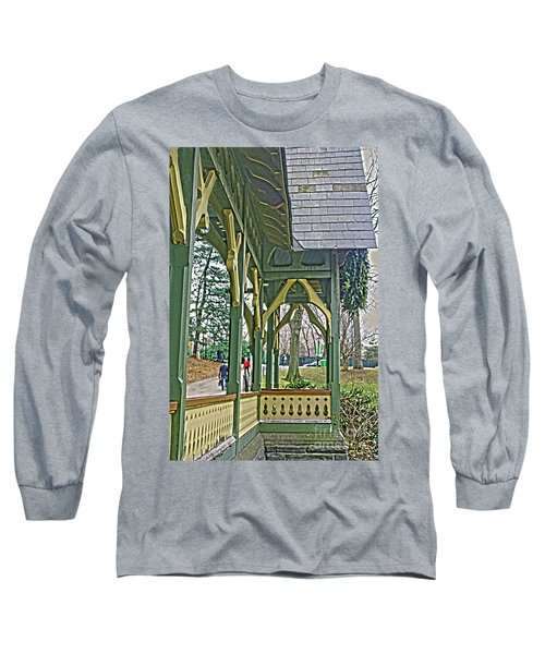 Long Sleeve T-Shirt featuring the photograph Dairy Cottage Porch by Sandy Moulder