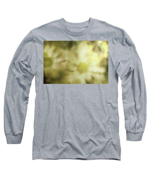 Daisies Long Sleeve T-Shirt by Gray  Artus