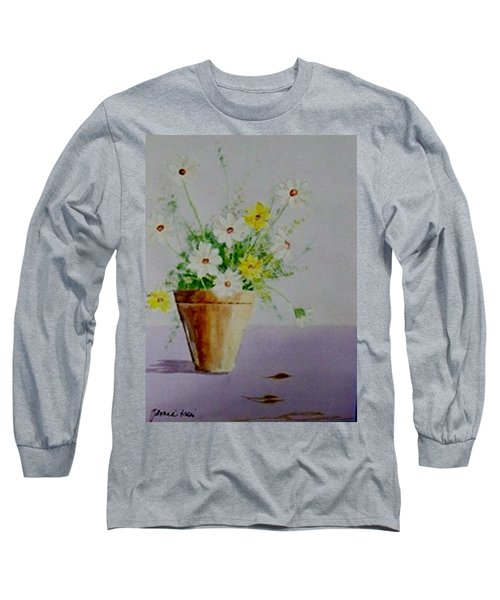 Long Sleeve T-Shirt featuring the painting Daisies In Pot by Jamie Frier