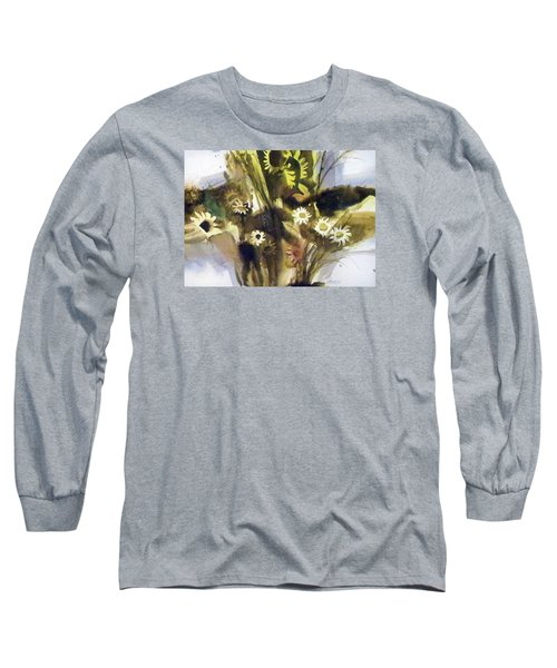 Long Sleeve T-Shirt featuring the painting Daisies by Ed Heaton