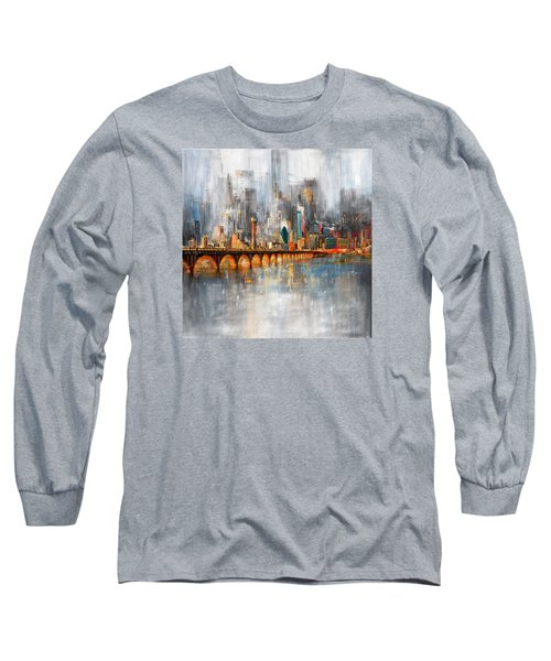 Dallas Skyline 217 1 Long Sleeve T-Shirt by Mawra Tahreem